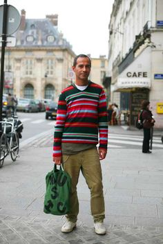 What a great striped sweater! Those colours would really pop out on a grey Vancouver day like this one!