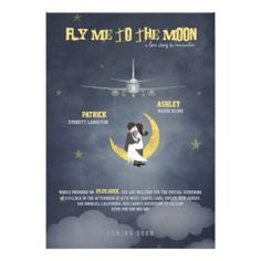 Fly Me to The Moon Wedding poster.