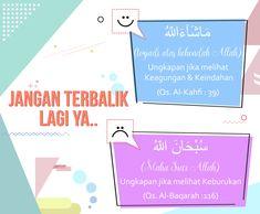 Jangan Terbalik lagi untuk penggunaan Subhanallah dan Masyaallah :)