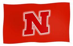 Nebraska Huskers Waving Flag