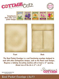 "CottageCutz Seed Packet Envelope (5"" x 7"")"