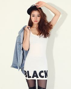 Simple Denim Jacket BLACK Printed Sleeveless Dress