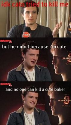 PEETA!!!!! Funny thing is I just finished rereading The Hunger Games Series... for the 7th time.