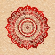 omulyána red gallery mandala  by Peter Patrick Barreda