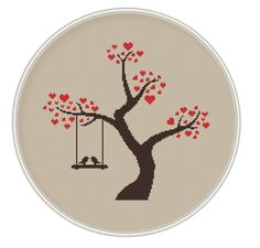 Love tree Сross stitch pattern Instant by MagicCrossStitch on Etsy