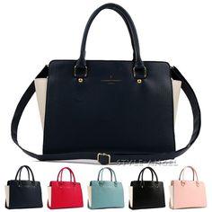 New Women Tote Cross Body Shoulder Handbag Ladies Purse Faux Leather Hobo Bag  #Handmade #TotesShoppers