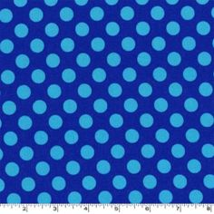 Michael Miller Fabric Ta Dot Cobalt Blue Half yard cut, yardage available