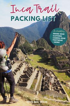 If you are hiking the Inca Trail to Machu Picchu you NEED this Inca Trail packing list. It includes hiking essentials such as boots, Inca trail outfit ideas, camera gear + more. tips tips closet tips for clothes tips for travel Packing List For Travel, Packing Tips, Europe Packing, Traveling Europe, Backpacking Europe, Camera Gear, Leica Camera, Nikon Dslr, Useful Tips