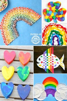 Get ready for Spring and St. Patrick's Day with these fun and colorful kids rainbow crafts. We've rounded up 40 of the BEST rainbow crafts in this post!