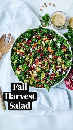 Lunch Recipes, Fall Recipes, Delicious Recipes, Cooking Recipes, Spinach Salad, Avocado Salad, Harvest Salad, Lean Cuisine, Healthy Food