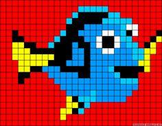 Dory Finding Nemo perler bead pattern