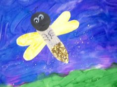 The Very Lonely Firefly- we finger-painted the background, then made the firefly
