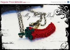 CHRISTMAS IN JULY SALE - 11TH TO 31ST JULY! 30% off entire shop including already reduced prices on any domestic or international orders PLUS orders within US above $25.00 will also receive FREE SHIPPING. Great chance for you to start your Christmas shopping now! #myprettybabi #EtsyCIJ @Etsy @Meylah Marketplace Crochet Chili Necklace @My Pretty Babi - Handmade Crochet, $17.92