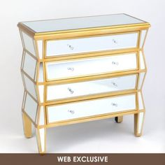 Mirrored Manhattan Chest | Kirkland's