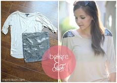 Merricks Art: Sequin Shoulder Top Tutorial