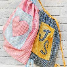 Reversible drawstring bag