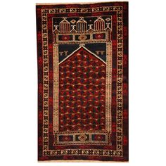 Herat Oriental Semi-antique Afghan Hand-knotted Tribal Balouchi Navy/ Rug