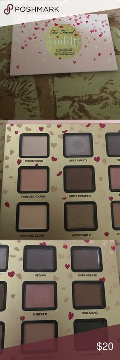 Too Faced Funfetti eyeshadow palette Swatched 3 shades only Too Faced Makeup Eyeshadow
