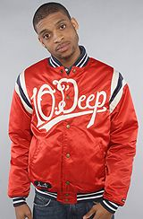 10 Deep The Saints Dugout Jacket in Red