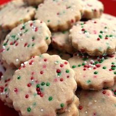 Three Ingredient Shortbread Cookie Dough - I love this recipe - with only three ingredients, and your choice of add ins, this recipe is sure to ease up the stress of baking at Christmastime.