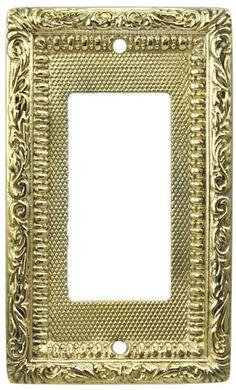 Polished Chrome 10 x 4 Victorian Letter Plate Golden Grace