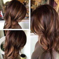 Image result for honey balayage on dark brown hair
