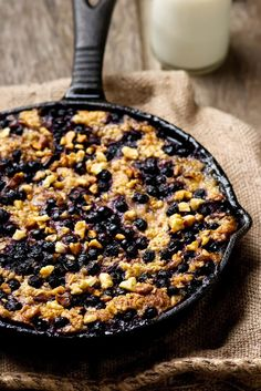 forrás: Best Breakfast Recipes, Baked Oatmeal, Banana Recipes, Meals For One, Tasty Dishes, Cravings, Food Porn, Healthy Recipes, Cooking