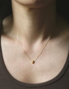 Baby Skull Necklace in Gold Vermeil by MichelleChangJewelry, $64.00