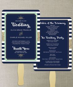 Instant Download  Navy Mint and Gold DIY by CreativeUnionDesign
