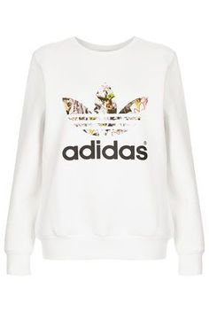 **Trefoil Print Sweat by Topshop x adidas Originals Price: $75.00 Color: WHITE Item code: 12X09FWHT