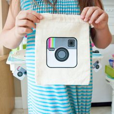Insta Party Teen Tween Birthday Party Customized Iron On Camera Face Graphics
