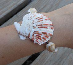 handmade seashell necklaces | Handmade Seashell Bracelet - Magnet Ends - Seashell Accessory ...