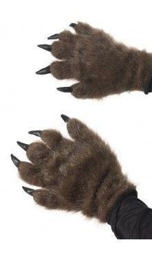 Haarige Werwolf Handschuhe