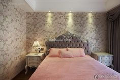Pink elegant European-style bedroom design and decoration 2015