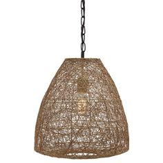Signature Design by Ashley Eadoin Natural Pendant Light \\ Rattan pendant under $100