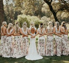 Wedding Dresses Long Floral Bridesmaid Dresses for a Spring Wedding - Congratulations for getting engaged, but now the work starts. Time to shop, and if it's beautiful bridesmaid dresses you're after, we've got them. Floral Bridesmaid Dresses, Beautiful Bridesmaid Dresses, Wedding Bridesmaids, Prom Dresses, Formal Dresses, Casual Bridesmaid Dresses, Long Dresses, Bridesmaid Ideas, Dress Long