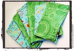 I'm making cloth napkins for my sister's baby shower using this method. Easy and fun!