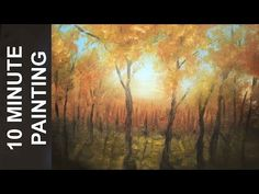 Painting a Fall Forest Landscape in 10 Minutes! A Real Time Acrylic Lesson - YouTube