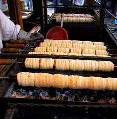"Prague, Czech Republic. Street food: ""trdelnik"" = Cinnamon Roll #AMERICANAPPAREL #PINATRIPWITHAA"