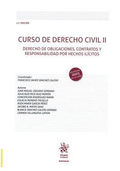 Curso de derecho civil. II, Derecho de obligaciones, contratos y responsabilidad por hechos ilícitos Tirant lo Blanch, 2021