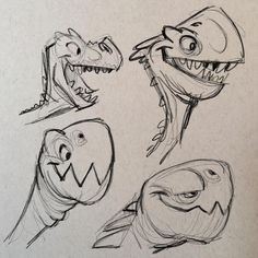 More dinos/dragons because. #cartoon #animation #characterdesign #characterdesigner #creaturedesign #creaturedesigner #ipadproart
