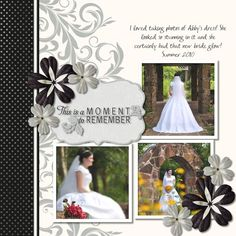 This is a Moment to Remember Divine Digital Scrapbooking Layout