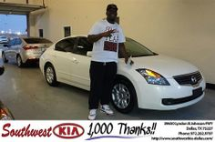Thank you to Kelvin Smith on your new 2009 #Nissan #Altima from Adrian Tate and everyone at Southwest Kia Dallas! #NewCar