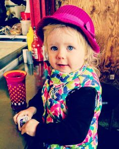 #TBT #ZoeJane at the counter with #Daddy waiting for our Catfish & Grits breakfast of champions!