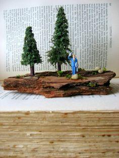 Miniature World Man in Blue Suit by WhiteGooseEmporium on Etsy, $16.00