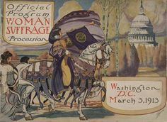 Poster for a women's suffrage march.