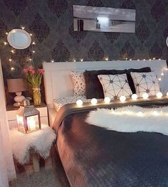 Sweet dreams via by Dream Bedroom, Home Decor Inspiration, House Rooms, Room Makeover, Apartment Decor, Beautiful Bedrooms, Home, Home Bedroom, Home Decor