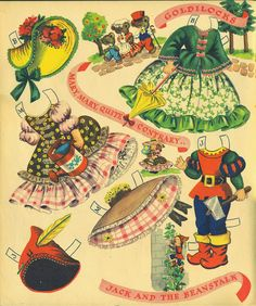 Dolls from Storyland Merrill #1554 1948 uncut book - Bobe Green - Picasa Web Albums