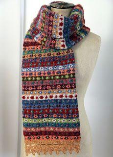 """Милые сердцу штучки: """"Вязание в стиле Fair isle: снуды, шарфы, шапки..."""" (подборка + схемы)"""