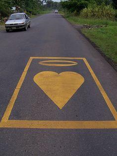 Costa Rica Road Marking, via Flickr.